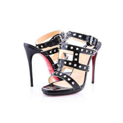 Christian Louboutin 'Sexy Strapi' Studded Ankle Strap Sandal Black