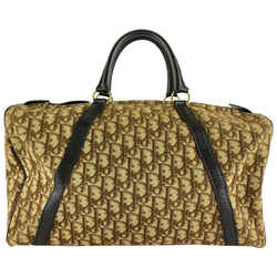 Christian Dior Brown Monogram Trotter Boston Duffle Bag 862121