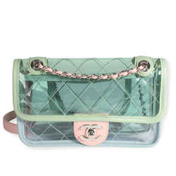 Chanel Pastel PVC & Leather Coco Splash Mini Flap Bag