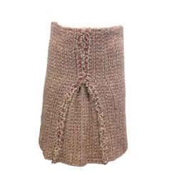 Chanel Blush Pink Tweed Wool Blend Skirt