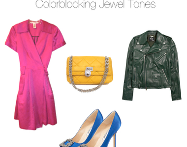 What to Wear Thursdays: Colorblocking Jewel Tones
