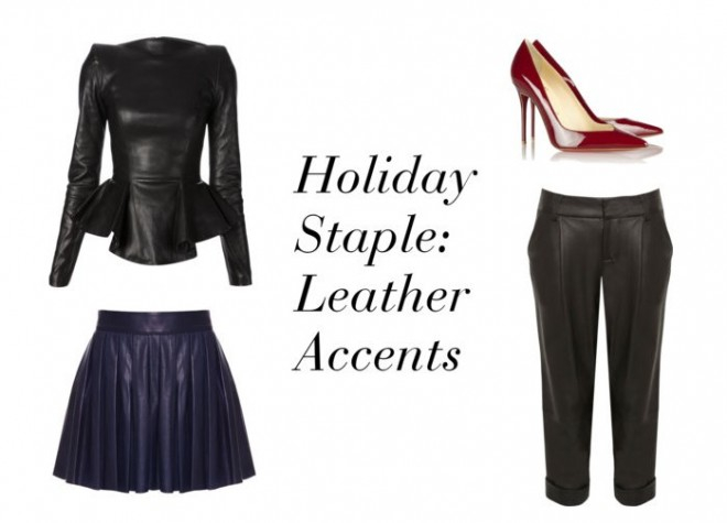 Leather, Peplum, Holiday, Party, Holiday Season, Accents, Staples, Investment Pieces
