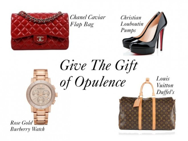 Opulent Habits, Luxury, Holiday, Gift Guide, Gifts, Christian Louboutin, Louis Vuitton, Chanel, Burberry