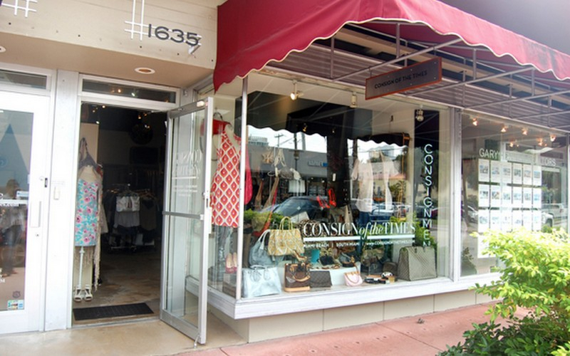 Consignment, Consignment Boutique, Luxury Consignment, Consign of The Times, Store Front, Lincoln Road, Miami Beach