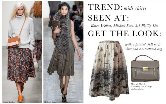 NYFW2014 Trend Midi Skirts