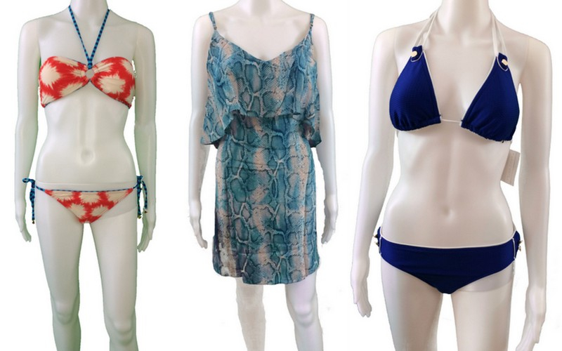 Throw A VIX Cover Up Over These Two Fab Bathing Suits, Exclusively Through Taupe Co. (From Left: Swim Suit, Marc Jacobs; Cover Up, VIX; Swim Suit, Trina Turk)