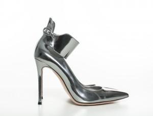 Silver Leather Gianvito Rossi Pumps fashion of the future