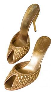 Gucci Gold Stud Heels