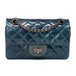 Chanel Reissue 2.55 Patent Quilted Bag 224 Teal Rhw