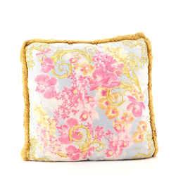 Fringe Throw Pillow Printed Cotton