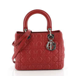 Lady Dior Bag Cannage Quilt Lambskin Medium