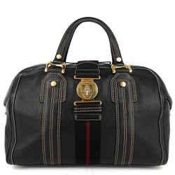 Aviatrix Large Leather Boston Bag
