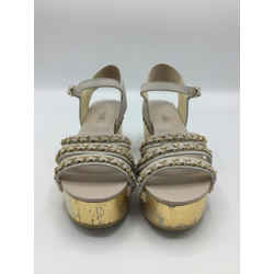 CHANEL Size 38.5/8 Bone & Nude Pink Sandals