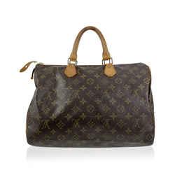 Louis Vuitton Vintage Monogram Canvas Handbag Speedy 35 Bag