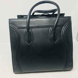 Celine Black Phantom Medium Leather Tote Purse - 2643-13-8120