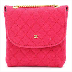 Chanel Quilted Red Nano Flap Mini Micro Chain Bag 861232