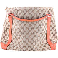 Gucci Miss Gg Original Gg Top Handle Bag Orange