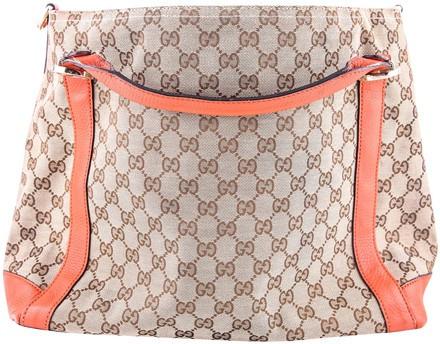 Gucci Miss Gg Original Gg Top Handle Bag Orange