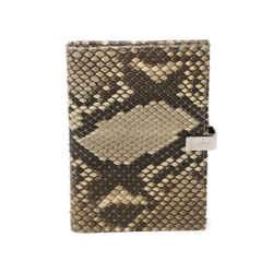 Gucci Brown Beige Snake Skin Notebook