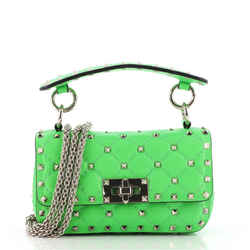 Rockstud Spike Flap Bag Quilted Leather Mini