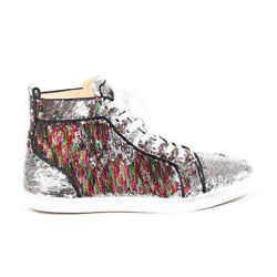 Christian Louboutin Sneakers Bip Bip High-Top Multicolor Sequin SZ 40