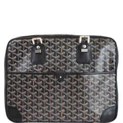 GOYARD Ambassade PM Goyardine Canvas Briefcase Bag Black