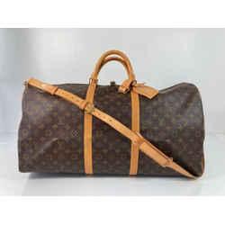 Louis Vuitton Monogram Keepall Bandouliere 60 Travel Duffle Bag