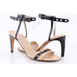 Chanel Multi Patent Leather Grommet Ankle Strap Pumps