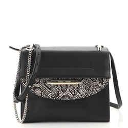 Delta Crossbody Bag Leather with Snakeskin Embossed Leather Medium