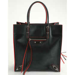 Balenciaga Papier A5 Zip Around Tote - Black/Red