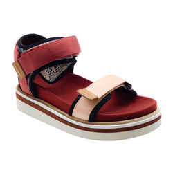 See by Chloe Red Velcro Flat Sandals