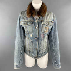 Denim Fur Collar Trucker Jacket