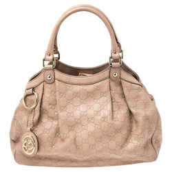 Gucci Old Rose Guccissima Leather Medium Sukey Tote