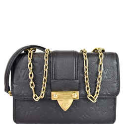 Saint Sulpice Pm Empreinte Leather Crossbody Bag Noir
