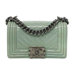 Chanel Patent Small Le Boy Bag Pastel Green RHW