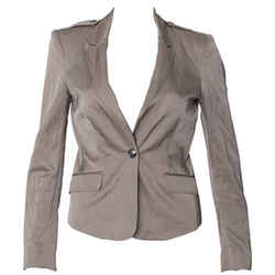 Burberry Cropped Taupe Blazer