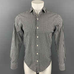 POLO by RALPH LAUREN Size S Black & White Checkered Cotton Button Up Long Sleeve Shirt