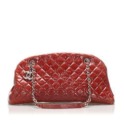 Vintage Authentic Chanel Red Mademoiselle Bowling Bag France