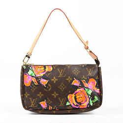 Louis Vuitton Roses Pochette Accessoires Bag Brown Floral Monogram Coated Canvas