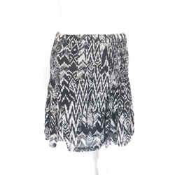 Iro Light Gray/black Mini-skirt Elastic Design Sz 2 Eu 34