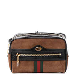 Gucci Ophidia Small Brown Web Belt Bag 517076 Size 85