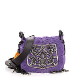 Corsaire Shoulder Bag Calf Hair and Quilted Velvet Small