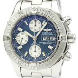 Polished BREITLING Chrono Super Ocean Steel Automatic Mens Watch A13340 BF518966