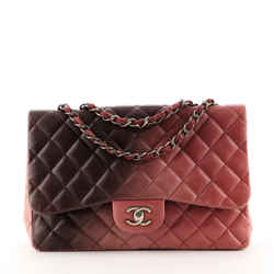 Classic Single Flap Bag Ombre Quilted Lambskin Jumbo