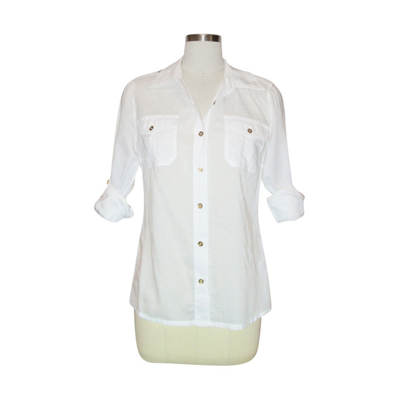 Tory Burch White Blouse/shirt/top Sz.4