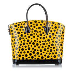 Yellow Louis Vuitton Yayoi Kusama Monogram Lockit Vertical Bag