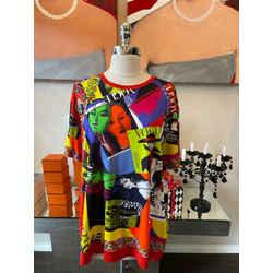 Versace Size XL Vogue Faces 1991 Cotton T-shirt 2676-52-2521
