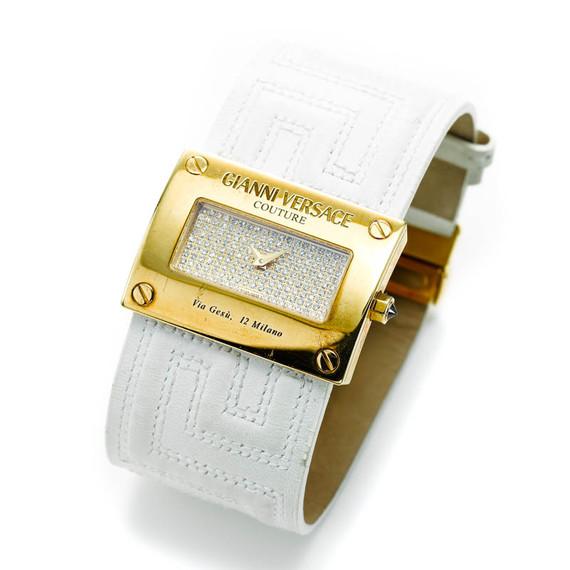Versace Limited Edition Solid 18K Watch w/Diamond Bezel