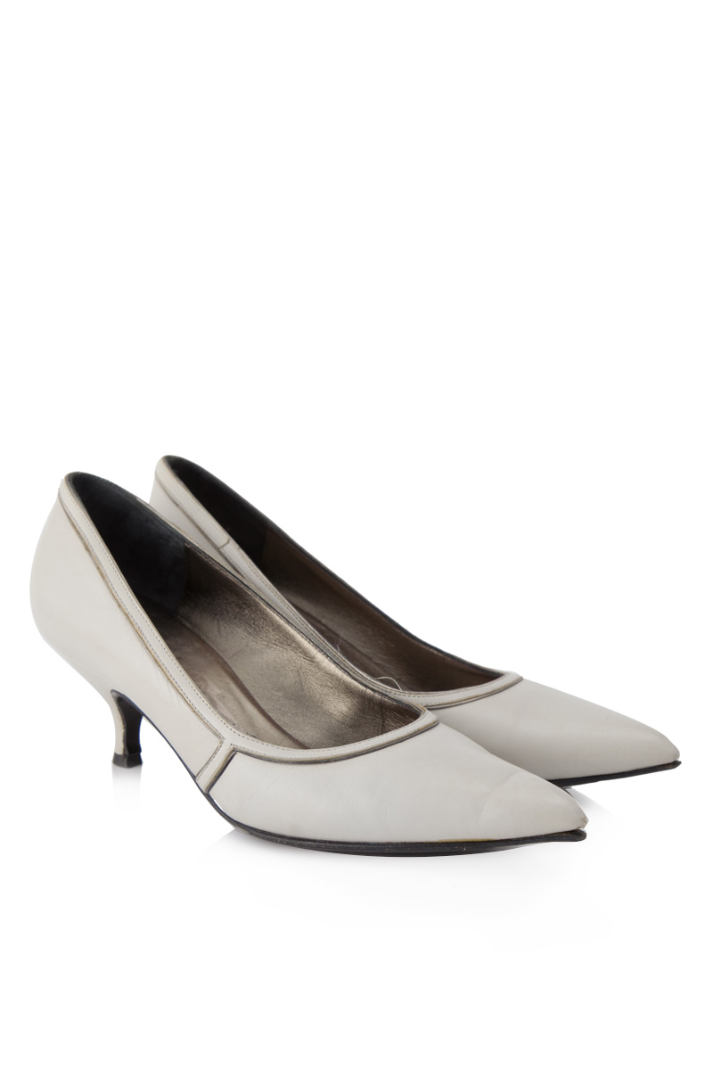 Chic Womens Shoes Cuban Low Heels Pointy Toe Fur Trim Winter Patent Leather Size