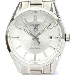 Polished TAG HEUER Carrera Calibre 5 Steel Automatic Mens Watch WV211A BF534105